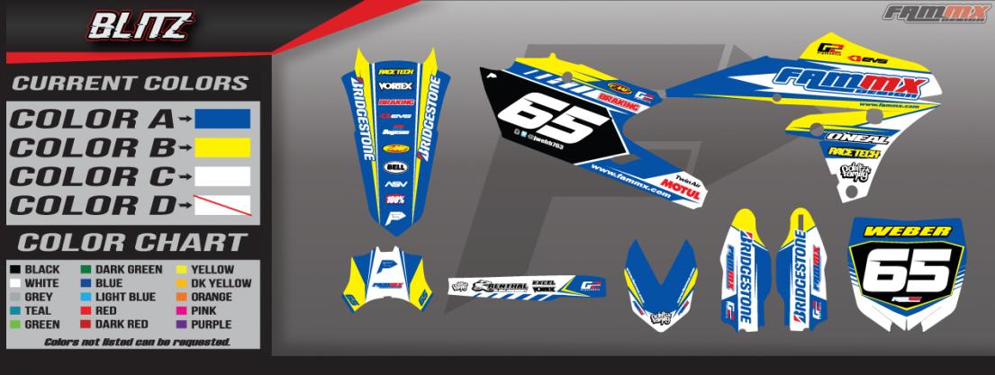 FAMmx Design Yamaha Blitz Semi Custom Motocross Graphics