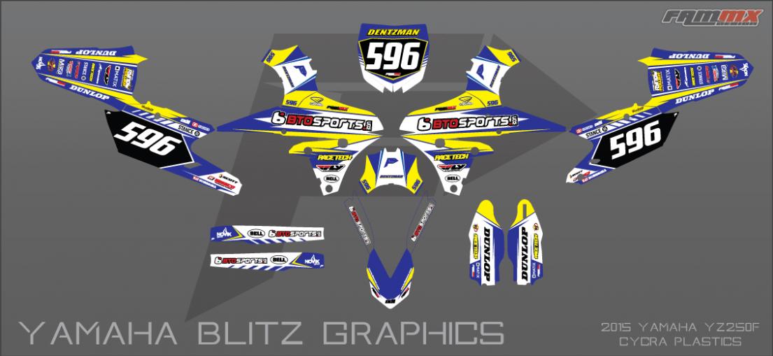 FAMmx Design Yamaha Blitz Graphics 2015 YZ250F 1105x509