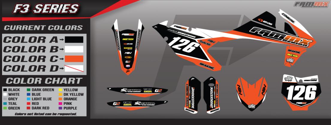KTM F3 Series Graphics ⋆ FAMmx Design