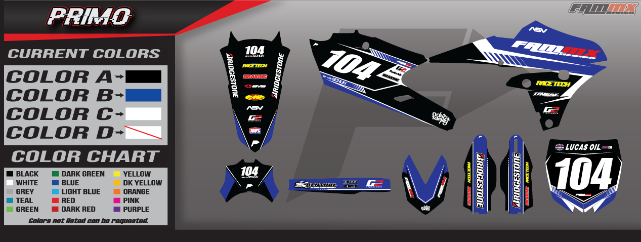 Motocross Graphics Photo Gallery FAMmx Design Yamaha Blitz